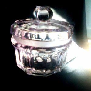 Antique 120 yr old Crystal Powder Box